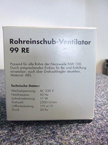 RUG Einschub Ventilator 99 REFür Rohre NW 100 - aus ABS