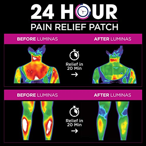 LUMINAS Pain Relief Patches 24-Pack of Fast Acting & Long Lasting Pain Patches for Muscle Pain Relief, Back Pain, Joint Pain, Muscle Cramps and Inflammation