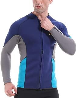 Best mens wetsuit jacket front zip Reviews