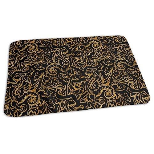Hier zijn er draken ~ verguld goud op zwart bed pad wasbaar waterdichte urine pads voor baby peuter kinderen en volwassenen 27.5 x19.7 inch