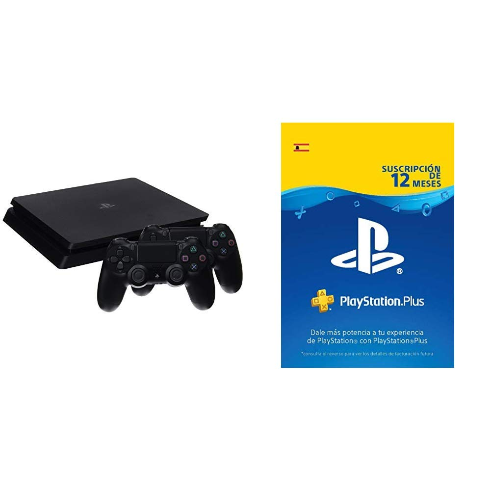 PlayStation 4 Consola (1 TB) + 2 Dual Shock 4 Wireless Controller ...