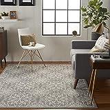 Nourison JUB06 Jubilant Transitional Floral Ivory/Grey Area Rug 6' x 9'