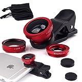 I-Sonite - Lente de cámara universal 3 en 1 para teléfono móvil (gran angular + ojo de pez + lente macro para HiSense F20