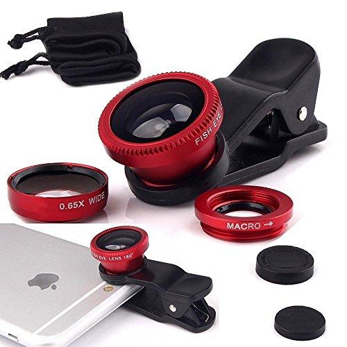 I-Sonite - Lente de cámara Universal para teléfono móvil 3 en 1, Gran Angular + Ojo de pez + Lente Macro para Elephone P8 (2017)