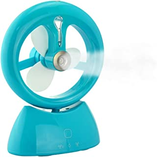 Ventilador pulverizador recargable por USB, diseño portátil, silencioso y potente, dos velocidades de cambio, aporta una sensación de frescor