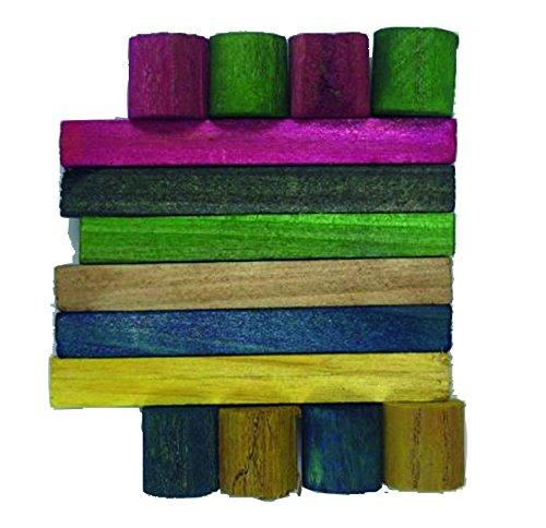 Croci Grignoteuse en Bois Coloré pour Petits Animaux 7 X 6 X 1,5 cm