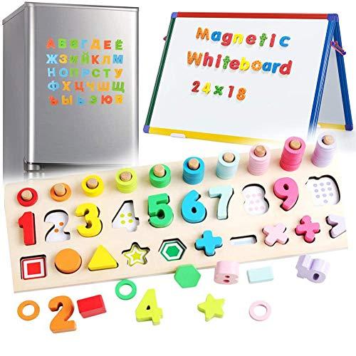 ARToy 3 in 1 Houten Magnetische Nummerherkenning Games voor Kinderen Magnetische Montessori Speelgoed Peuters voor 3 4 5 Jaar Ouderen Kids Meisjes Jongens