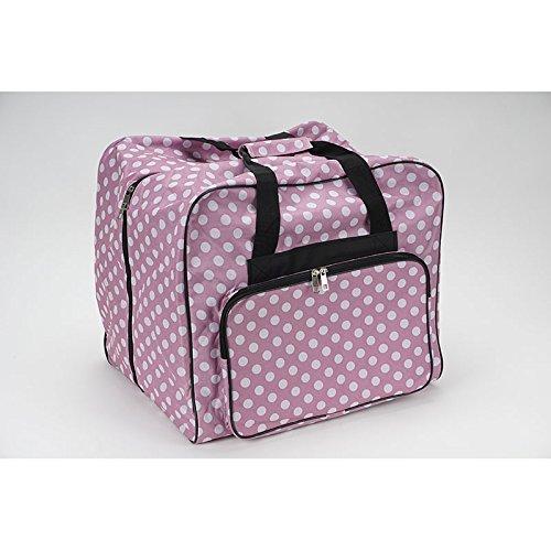 Over-Coverlock Tasche XL (rosa/weiß gepunktet) - 44 x 37 x 41 cm (B x H x T)