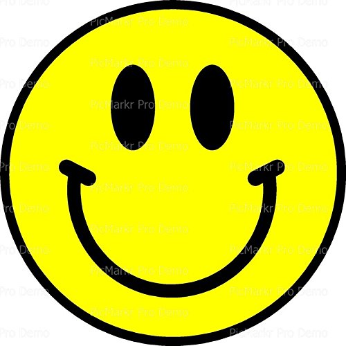 2' Round Cupcake (12 Per Sheet) - Smiley Face Happy Birthday - Edible Cake or Cupcake Topper - D20388