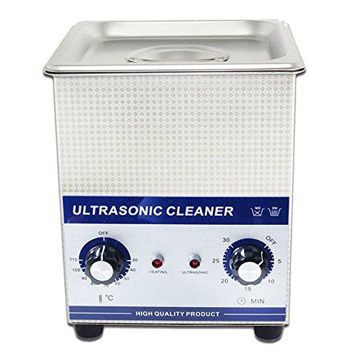2.0L Professionell Ultraschall Reinigungsgerät Maschine mit Mechanische Zeitschaltuhr Beheizt Edelstahl Reinigung Behälter 110V/220V