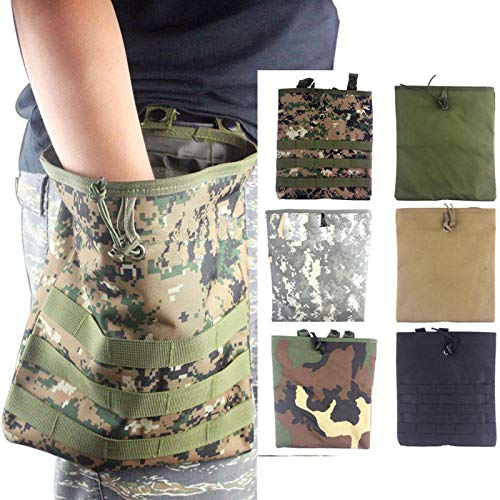 WoSporT Tactical Hunting MOLLE Belt Roll Up Magazine Mag Drop Dump Pouch Bag