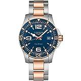 Longines HYDROCONQUEST L37403987 - Reloj de Buceo con Esfera Azul de Acero Inoxidable y PVD 41 mm