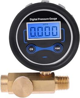 "HELYZQ Compressor de ar digital de 1/4"" 200PSI válvula de controle de medidor de pressão"
