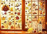 UMIPUBO Thanksgiving - Adesivo per finestra, motivo: foglie d'acero, autunno, per Halloween, decorazione (A)