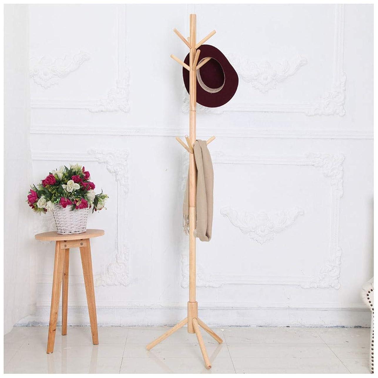 忌避剤合唱団彼自身コートハンガー シンプルな木製コートラック床純木コートツリー創造家具帽子服スタンド寝室乾燥ラック