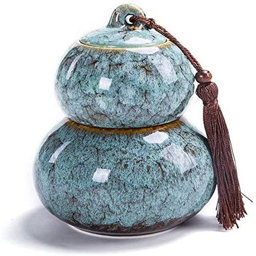 Shengluu Urne Einäscherung UrnsFor Asche Funeral Urn Urnen Erwachsene Kinder Tierurnen versiegelt gegen Feuchtigkeit einzigartige Form Schöne Mini Souvenir 11.2X15.8cm (Farbe : Gray)