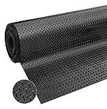 Tappeto Gomma Antiscivolo Copri Pavimento al Metro H120 Cm Spessore 3mm Nero Robusto su Misura MOD.ZERBINO Bolle Gomma al Metro