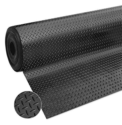 Tapis en caoutchouc antidérapant pour sol vente au mètre, hauteur 120 cm, épaisseur 3 mm, noir résistant, sur mesure, modèle Paillasson, bulles en caoutchouc au mètre