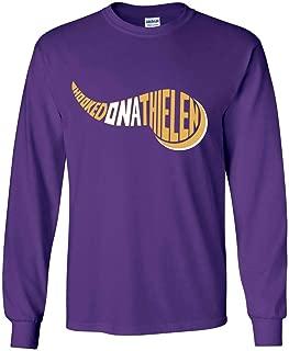 Long Sleeve Purple Minnesota Thielen Hooked on T-Shirt