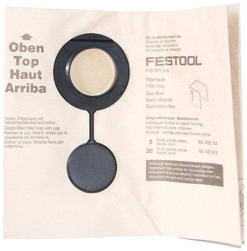 Festool Zweilagiger Filtersack SR5/6, 5 Stück