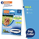 HARTZ Ultra Guard Water Resistant Protection Flea and Tick Collar for Puppies, White,,15'