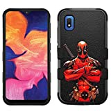 for Samsung Galaxy A10e Case, Galaxy A10e Hard+Rubber Dual Layer Hybrid Heavy-Duty Rugged Impact Cover Case - Deadpool #CR