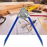 Astibym Indicador de Marcado Industrial Herramienta de Marcado Brújula precisa con Punta de Alta dureza para carpintería(250mm)
