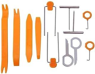 12 peças de plástico universal clipe para porta de carro, painel de aparar, remoção de áudio, kit de ferramentas abertas, ...