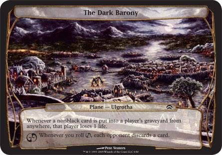 Magic The Gathering - The Dark Barony - Planechase - Planes by