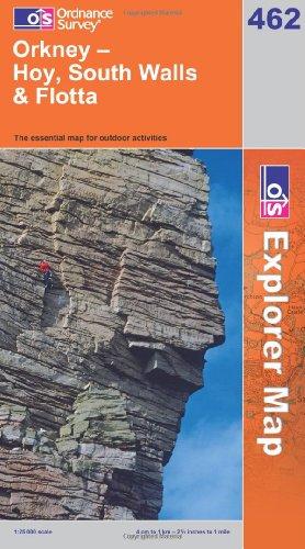 OS Explorer map 462 : Orkney - Hoy, South Walls & Flotta