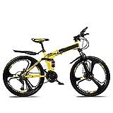 SYCHONG Bicicleta Plegable Hombres Y Mujeres Carreras Off-Road 30 Velocidad Doble Doble del Disco De Freno De La Absorción De Choque Antideslizante (26 A)
