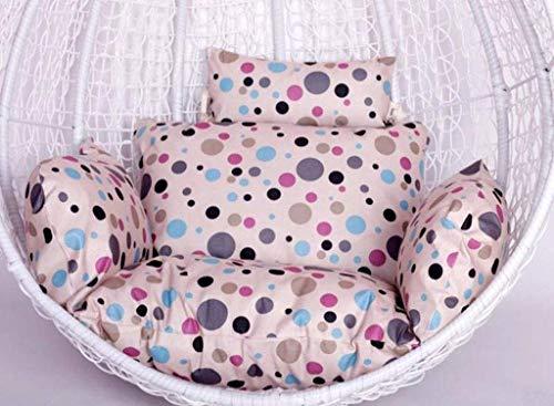 DZX Cojines para Silla de Hamaca 100% algodón Acolchado para Colgar el Asiento de ratán Cojines de Asiento de Tejido con Almohada para jardín, Patio, Silla de Columpio de ratán (Color: F) (Excluyendo