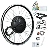 JauoPay 48V 1000W Electric Bicycle Conversion Kit 26' E-Bike Front Wheel 28mile/h (45km/h) High Speed Electric Bicycle Wheel Kit