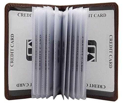 Cuero de Becerro Tarjetero para Tarjeta de crédito MJ-Design-Germany (Marrón)