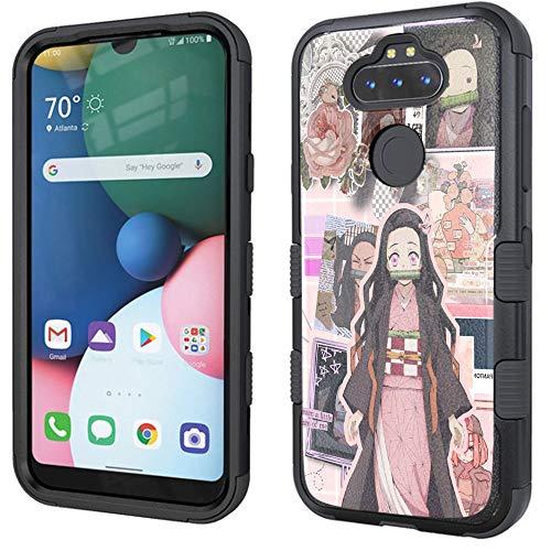 Labelle Case for LG Aristo 5/LG Aristo 5+/LG K31/K300/Phoenix 5/Fortune 3/Risio 4/Phoenix 5/LG K8X/K300TM, Rugged Impact Case - Anime #DSNZK