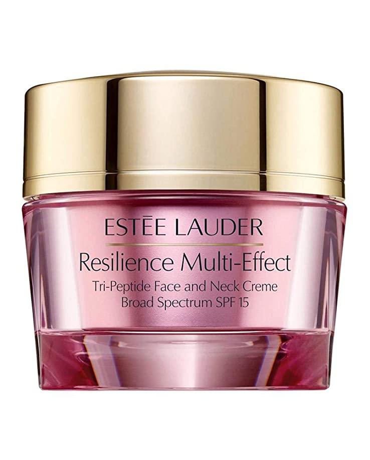 アジテーションつかむ艶エスティローダー Resilience Multi-Effect Tri-Peptide Face and Neck Creme SPF 15 - For Dry Skin 50ml/1.7oz並行輸入品