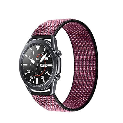 DALIANMAO WatchBand 20 22mm Nylon Watch Band para Watch 42 46mm para Huawei Watch GT 2 Strap (Band Color : Pink Berry, Band Width : 22mm)