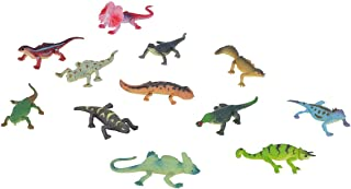 Wild Republic Lizards Mini Polybag, Toy Figurines, Gifts for Kids, Party Supplies, Sensory Play, Kids Toys, 12 Piece Set
