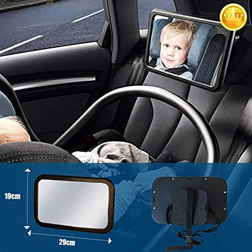 Soontrans Specchietto Retrovisore Bambini Auto Specchio Neonato Infrangibile Staccabile Rotazione Flessibile 360 ° per Auto Sedile Posteriore