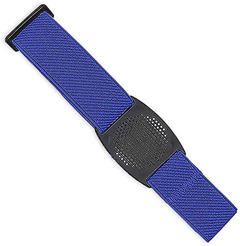 ***Designer-Edition*** Freestyle Libre Fixierband – Gitter: Schwarz (Flexibel/Sensitiv)   Diasticker® (Medium: 25-35 cm, Royal Blau)
