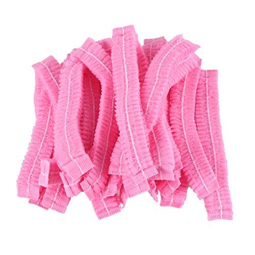 Beaupretty Einweg-Haarnetze für Dusche, 100 Stück (Pink)