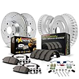 Power Stop K15263DK-36 Front and Rear Z36 Truck & Tow Brake Kit, Carbon Fiber Ceramic Brake Pads and Drilled/Slotted Brake Drums