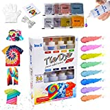 imoli Tie Dye Kit 8 Colors Large Tie Dye Kits for Kid 120ml Fabric Dye Art Set Tie-Dye Kit Fabric Dye Paints Supplies for Craft Arts Fabric Textile Party Handmade Project Tie Dye Party Kit for Adults
