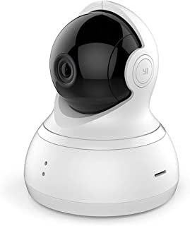 YI Dome Camera 1080p HD Wireless IP Security Surveillance Night Vision - White, US Edition