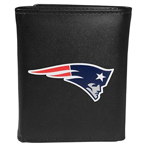Siskiyou Sports NFL New England Patriots Tri-fold Wallet Large Logo, Black