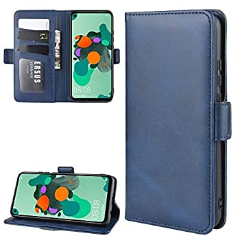 Mobile Phone Leather Cases Wallet Stand Leather Cell Phone Case for Huawei Nova 5i Pro/Mate 30 lite,with Wallet & Holder & Card Slots Black  Leather Cases  Color   Dark Blue