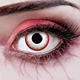 aricona Kontaktlinsen - Lentes de contacto de color para Halloween - Lentes de contacto sin dioptrías - Lentes de contacto blanco para un disfraz de zombie