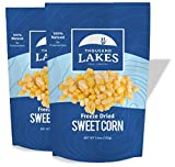 Thousand Lakes Freeze Dried Fruits and Vegetables - Sweet Corn 2-pack 3.6 ounces (7.2 ounces total) | 100% Whole Sweet Corn Kernels | No Sugar or Salt Added