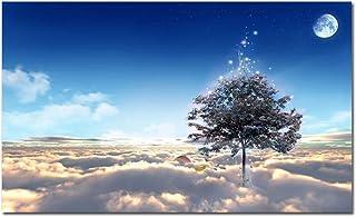 REFENG Convector, Panel De Calentamiento por Infrarrojo Lejano, Elemento Calefactor De Cristal De Carbono, Tablero De Calentamiento Eléctrico De 500 W, Mural De Árbol Estrellado