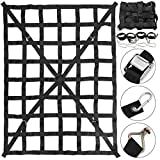 Mophorn 50' x 66' Cargo Net with Cam Buckles & S-Hooks, Cross Strap Truck Bed Cargo Net 4.2' x 5.5', Heavy Duty Cargo Sets for Pickup Capacity 1100LBS for Pickup Trucks